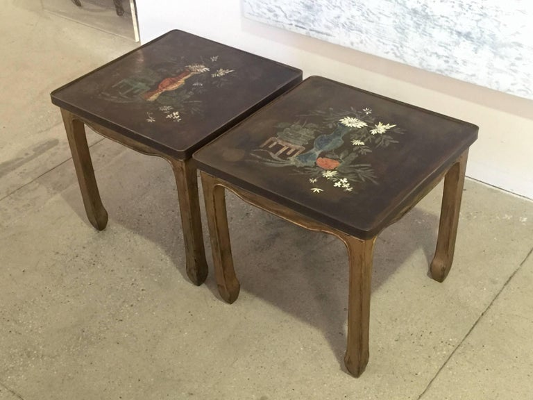 A pair of tables by Philip and Kelvin LaVerne.