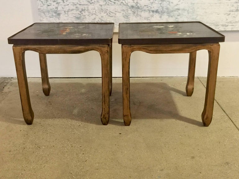 American Pair of Philip and Kelvin LaVerne Tables For Sale