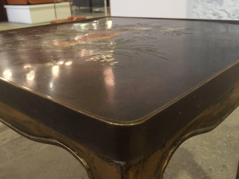 Bronze Pair of Philip and Kelvin LaVerne Tables For Sale