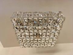 Kinkeldey Austrian Crystal 1960s Flush Ceiling Light