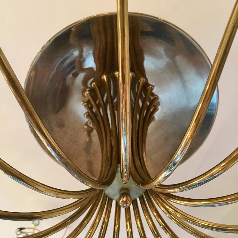 Large Italian Mid-Century Ragno, 1950s Sputnik Chandelier In Excellent Condition For Sale In New York, NY