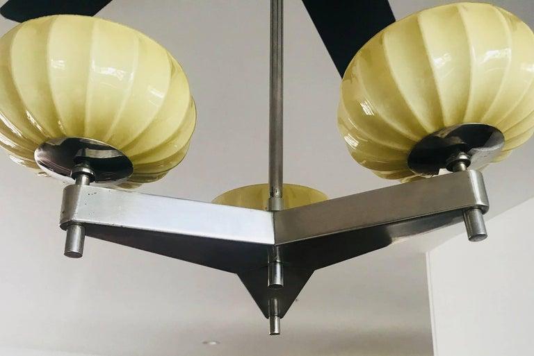 Zukov Czech Bauhaus Cubist Deco Pendant Chandelier For Sale 1
