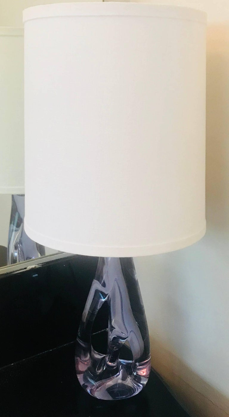 Sevres French 1960s Lavender Crystal Table Lamp For Sale At 1stdibs Rewiring A Beautiful Sculptural By The Famed Maker Makers