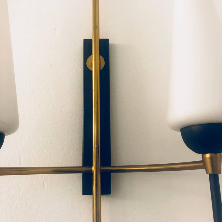 Pair of French Lunel, 1960s Midcentury Wall Lights For Sale 4