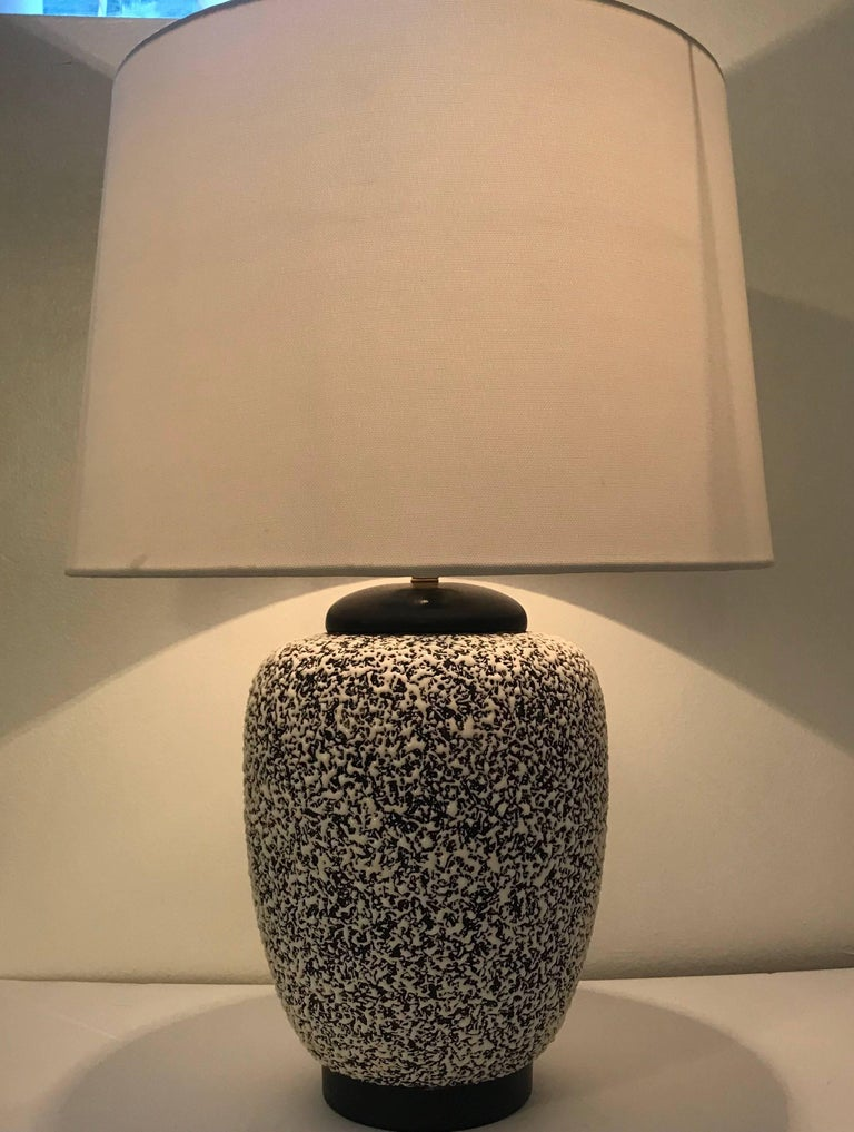 Paul Milet Sevres French Deco 1930s Table Lamp Jean Besnard For Sale 1