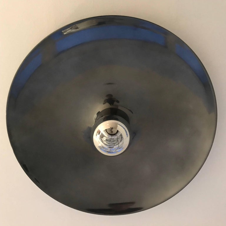 Aluminum Extra Large Honsel Ceiling Wall Light 1960s Charlotte Perriand For Sale