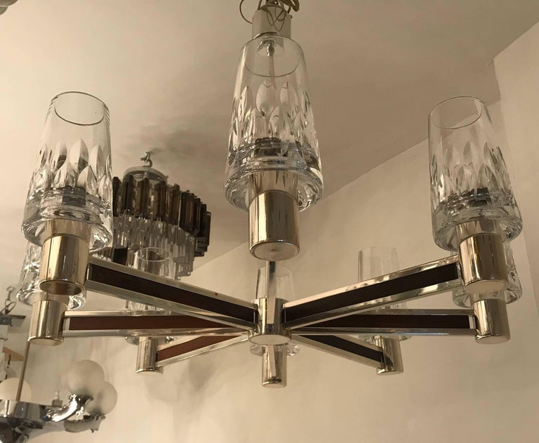 German High Style, 1970s Crystal Chandelier In Excellent Condition For Sale In New York, NY