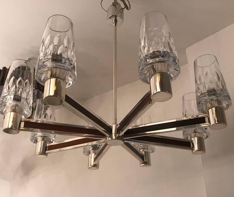 Late 20th Century German High Style, 1970s Crystal Chandelier For Sale