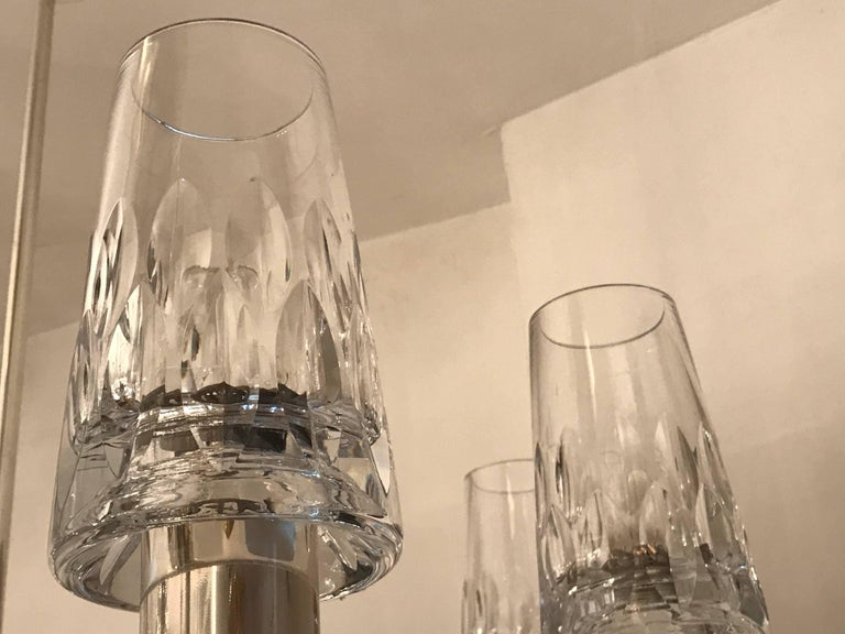German High Style, 1970s Crystal Chandelier For Sale 2