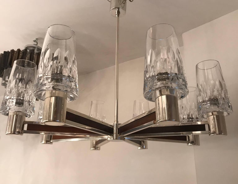 German High Style, 1970s Crystal Chandelier For Sale 4