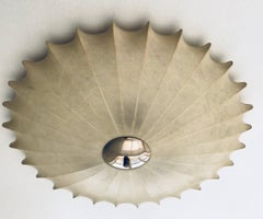 Achille Castiglioni Italian Flush Ceiling Light, 1960s