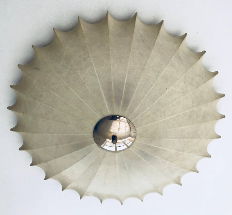 Mid-Century Modern Achille Castiglioni Italian Flush Ceiling Light, 1960s For Sale
