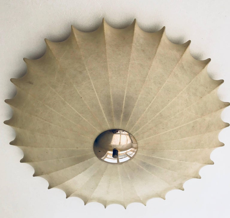 Achille Castiglioni Italian Flush Ceiling Light, 1960s For Sale 3