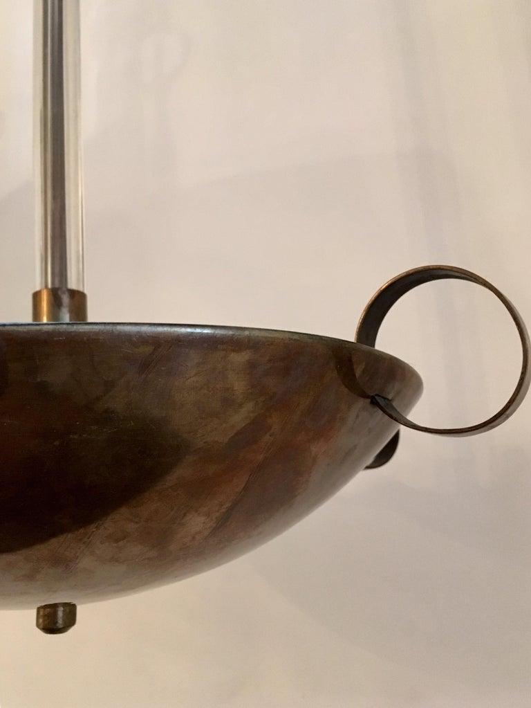 Italian 1930s Futurist Pendant Chandelier For Sale 2