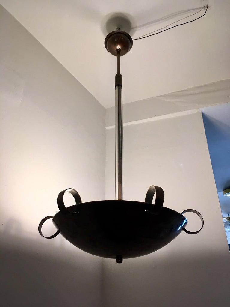 Italian 1930s Futurist Pendant Chandelier For Sale 6