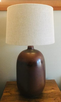 1960s American Pottery Table Lamp