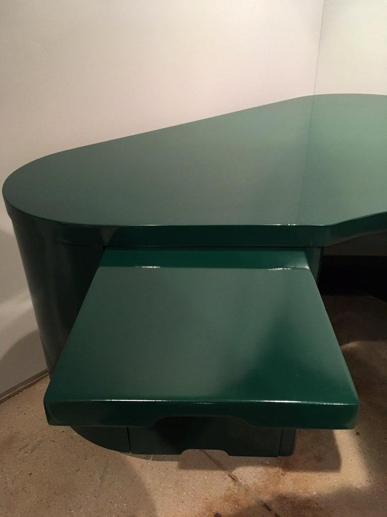 American Art Deco Racing Green Fletcher Aviation Desk For Sale
