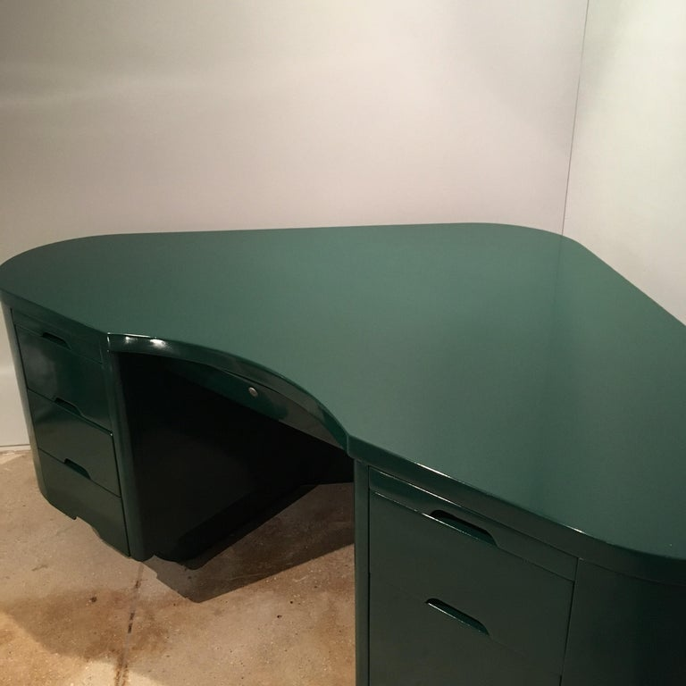Art Deco Racing Green Fletcher Aviation Desk For Sale 1
