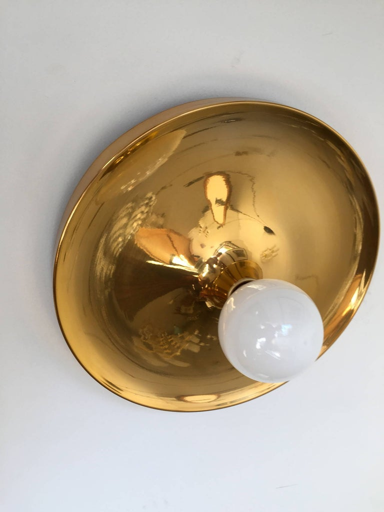 German Pair of Large Honsel Space Age, 1960s Flush Lights Perriand For Sale
