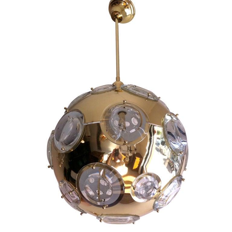 1970s Oscar Torlasco for Lumi High Style Italian Pendant Light