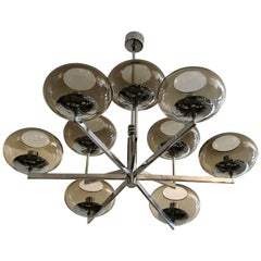 Sciolari 1960s Space Age Modernist Chandelier