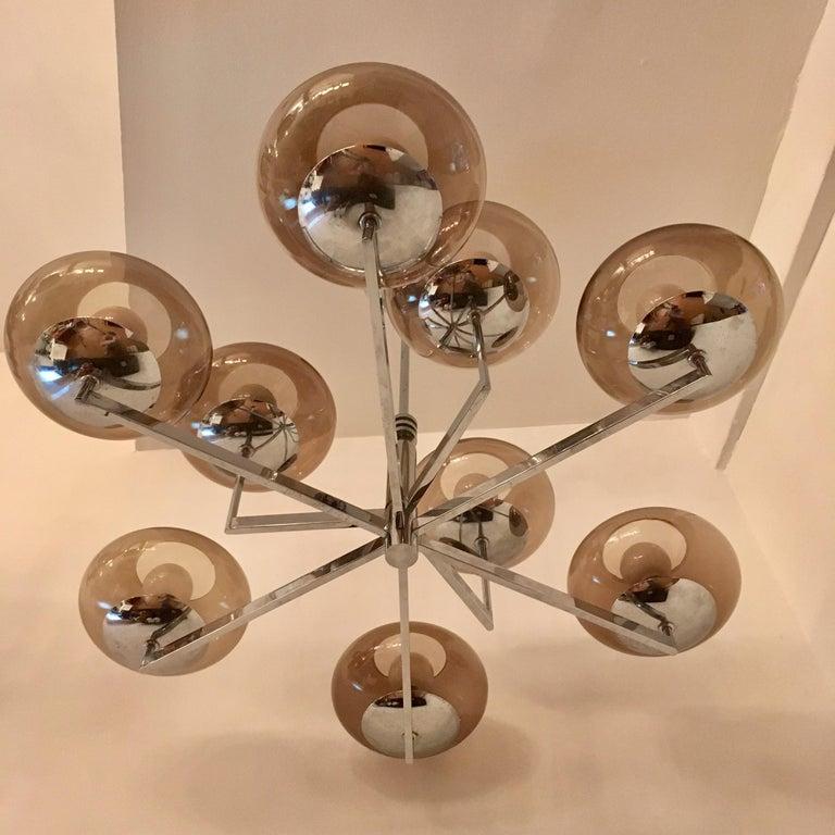 Sciolari 1960s Space Age Modernist Chandelier For Sale 3