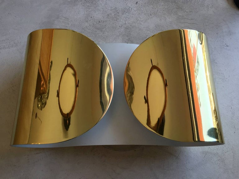 Brass Pair of Italian Tobia Scarpa
