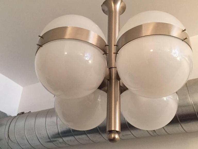 Pair of Space Age Sergio Mazza Tetraclio Italian Pendants 2