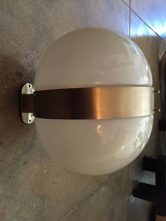 Large Pair of Sergio Mazza Clio 1970s Italian Wall Lights For Sale 2