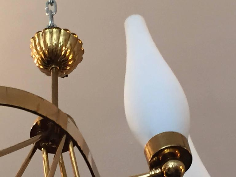 Mid-Century Modern French 1960s Regency Chandelier For Sale