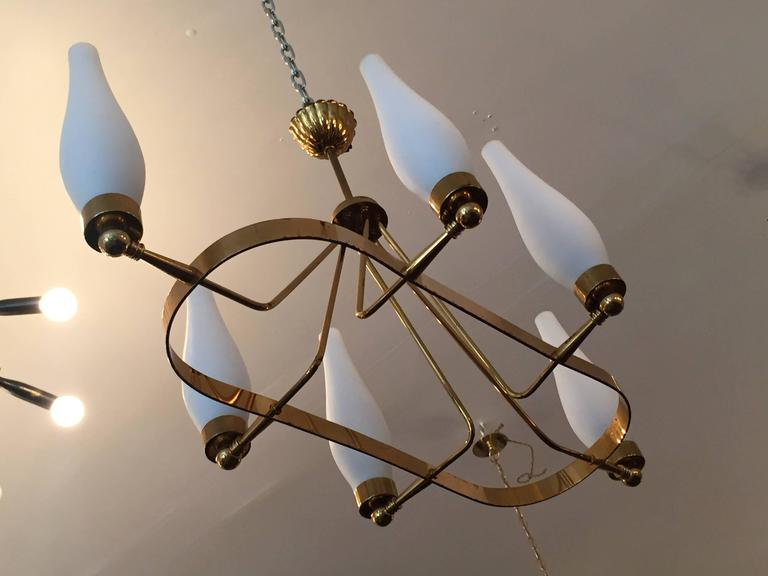 Mid-20th Century French 1960s Regency Chandelier For Sale
