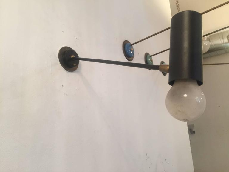 Pair of French Directional 1950s Wall Lights In Excellent Condition For Sale In New York, NY
