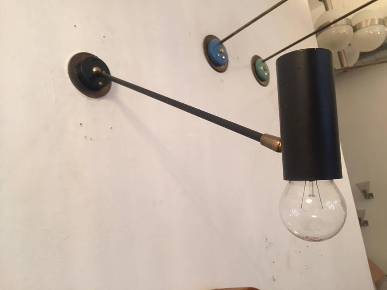 Pair of French Directional 1950s Wall Lights 2