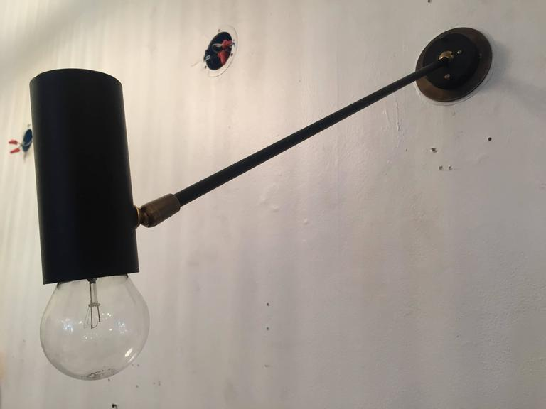 Pair of French Directional 1950s Wall Lights For Sale 1
