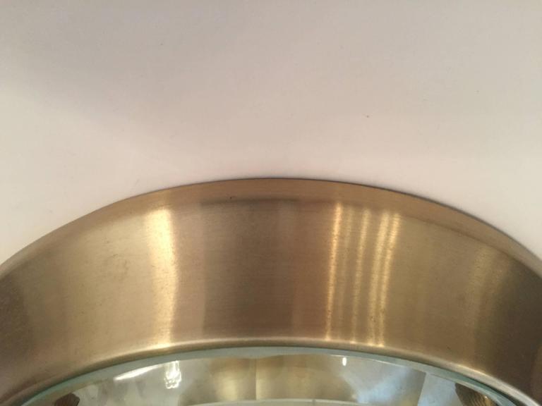 Italian Crystal Mid-Century Modern Flush Ceiling Light  Oscar Torlasco for Lumi 7