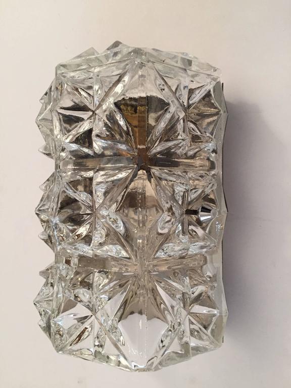 Pair of Austrian 1960s Modernist Glass Wall Lights 2