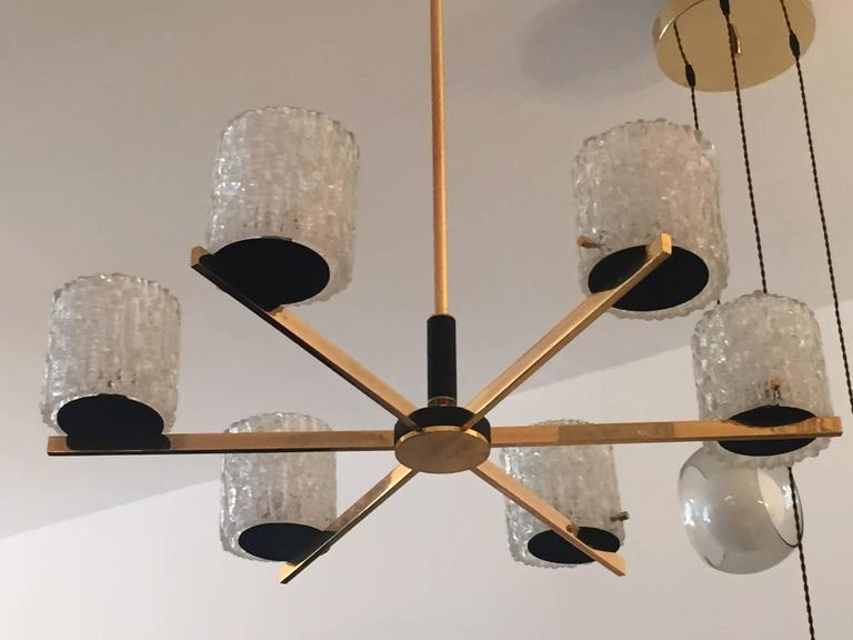 French Lunel 1950s Mid-Century Modern Chandelier 2