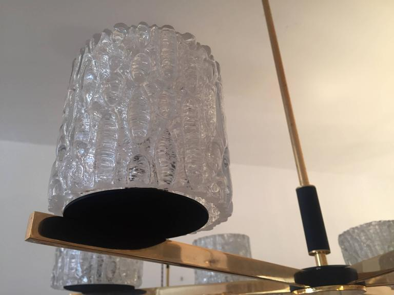 French Lunel 1950s Mid-Century Modern Chandelier 3