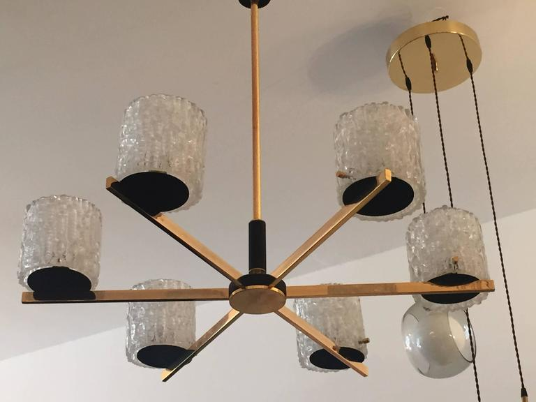 French Lunel 1950s Mid-Century Modern Chandelier 4