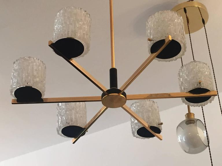 French Lunel 1950s Mid-Century Modern Chandelier 5