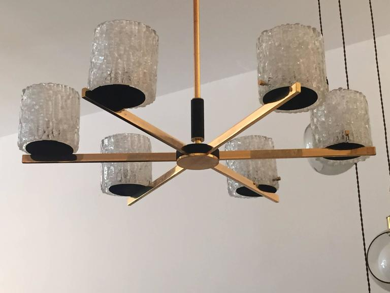 French Lunel 1950s Mid-Century Modern Chandelier 7