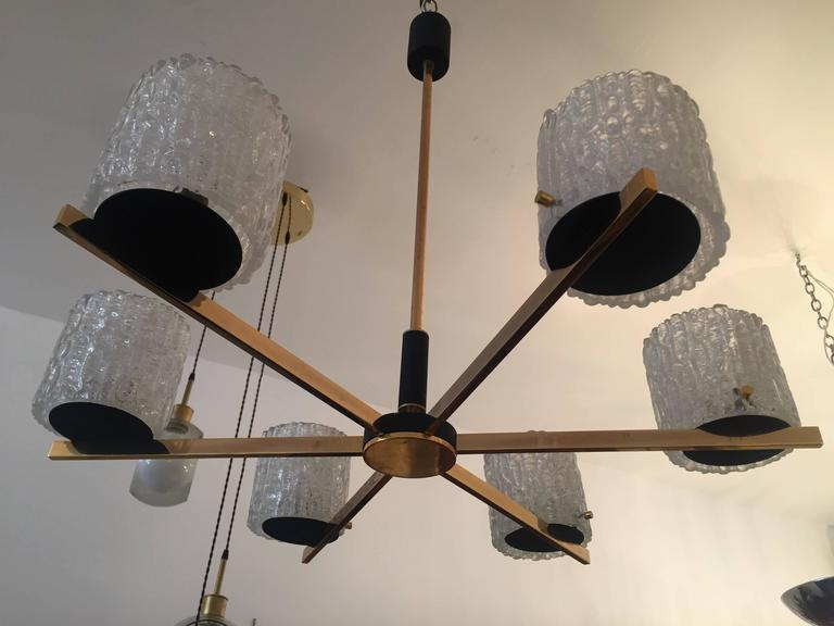 French Lunel 1950s Mid-Century Modern Chandelier 8