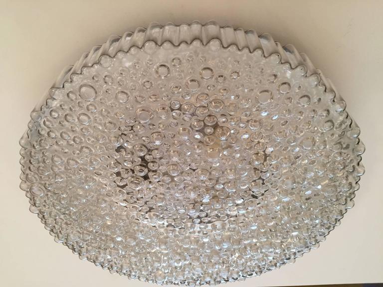 Grand Limburg Glass, 1960s Flush Ceiling Light 2