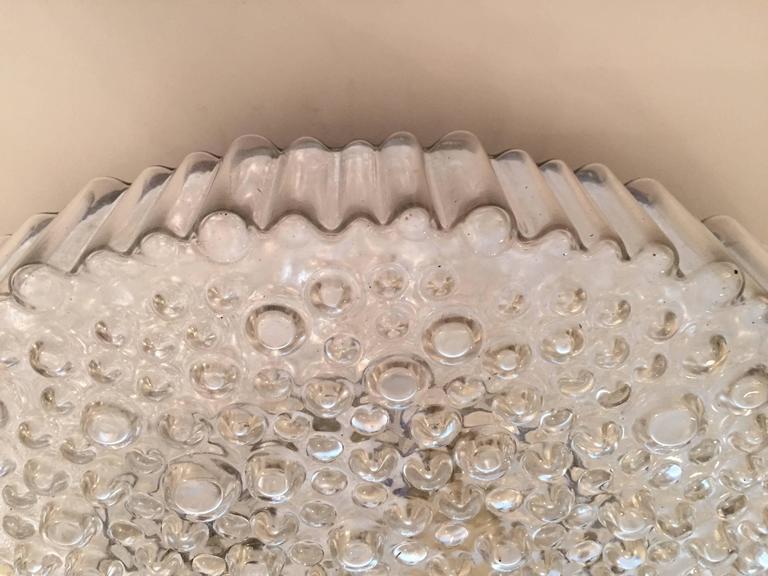 Grand Limburg Glass, 1960s Flush Ceiling Light 3