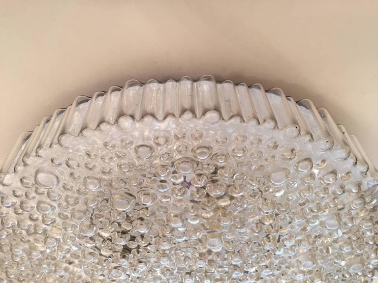 Grand Limburg Glass, 1960s Flush Ceiling Light 5