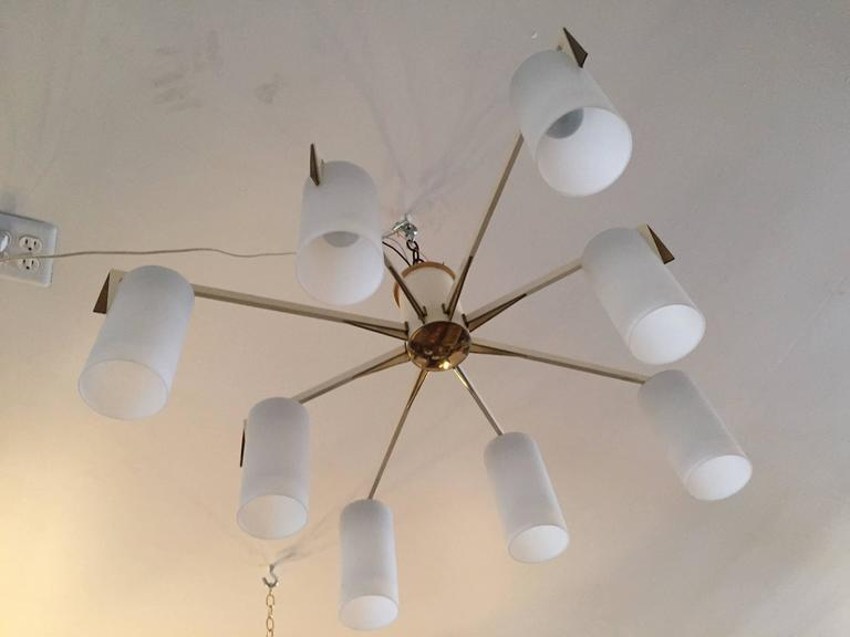 Italian 1950s Mid-Century Sculptural Flush Ceiling Light 2