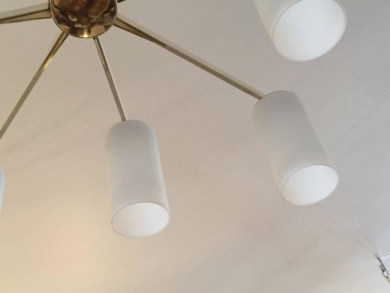 Italian 1950s Mid-Century Sculptural Flush Ceiling Light 4