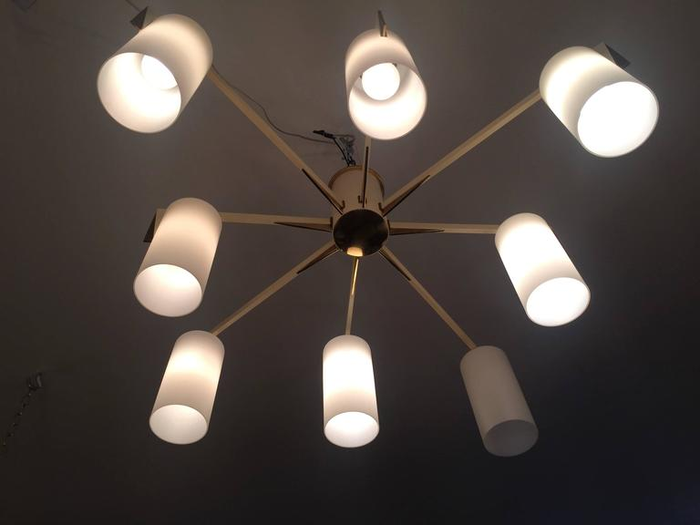 Italian 1950s Mid-Century Sculptural Flush Ceiling Light 5