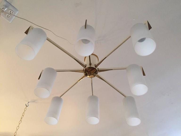 Italian 1950s Mid-Century Sculptural Flush Ceiling Light 6