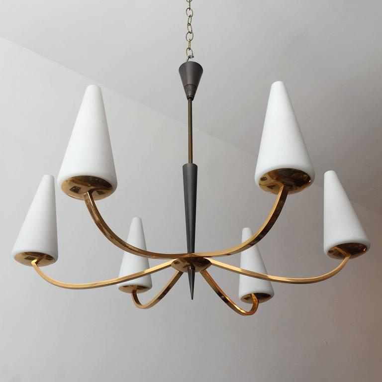 1960s French Lunel Modern Chandelier 2